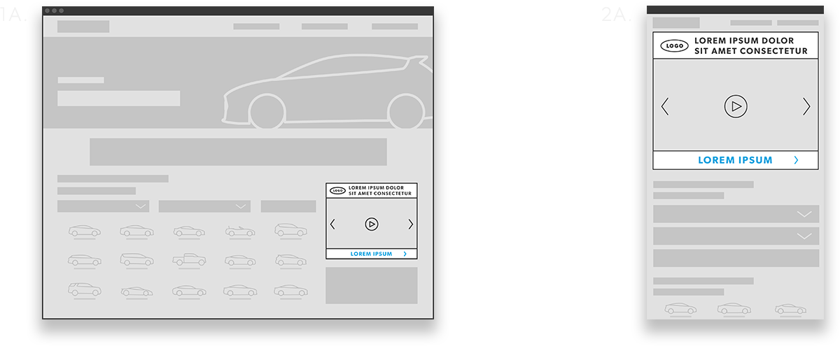 Featured Video Desktop Wireframe Image